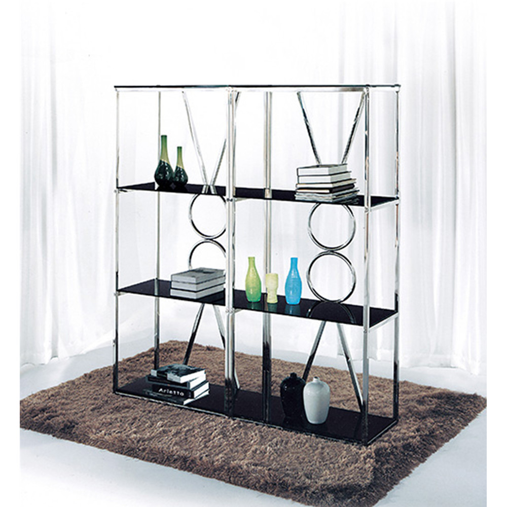 Modern foshan furniture metal book shelf for sale