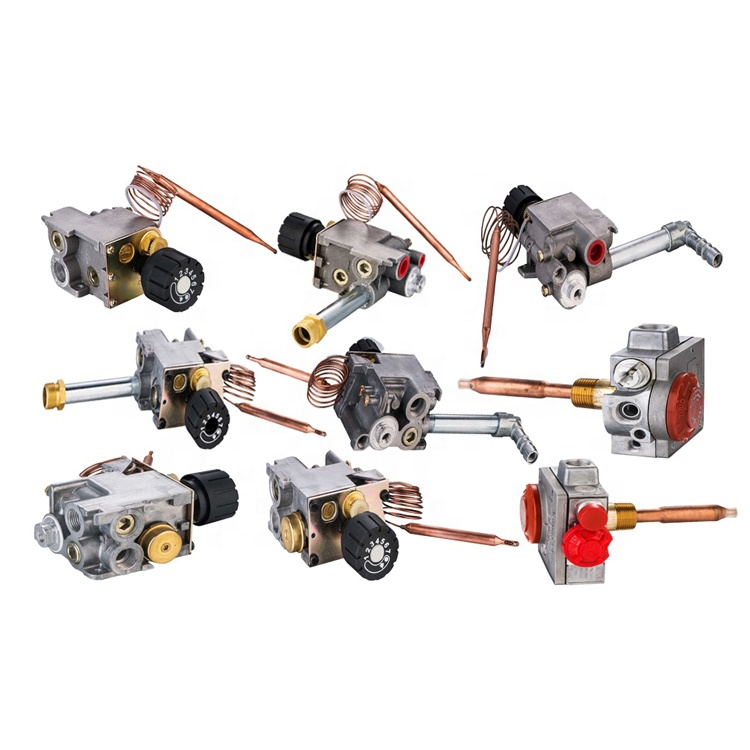 Gas thermostat in valves/gas grill thermostat