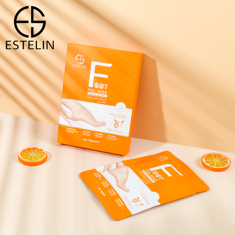 Professional ESTELIN Foot Care Series Lavender Exfoliating Foot Peel Mask 40g*2pairs
