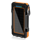 2021 Waterproof 20000mah Dual Usb Wireless Solar Power Bank Solar Phone Charger Solar Powerbank Solar Wireless phone Charger