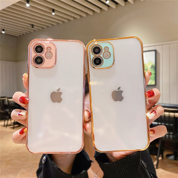 for iphone 11/12 shock absorption bumper cover with camera protector,for iphone 12 case clear pc hard electro