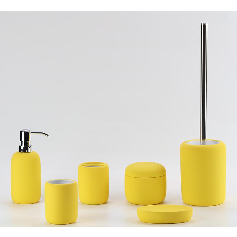 European Style Bright Yellow Ceramic Bathroom Accessories Sets Buy Bathroom Accessories European Bathroom Set Yellow Bathroom Sets Product On Alibaba Com