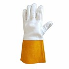 argon arc welding gloves colorful cow split leather gauntlet Heat Protection construction long working gloves