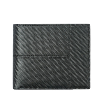 Custom wholesale best brands men's leather minimalist slim wallet genuine leather carbon fiber rfid Blocking card wallet