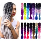 Crochet Braid Hair Synthetic Extension Outre X pression Jumbo Colored Wig Wholesale Crochet Hair