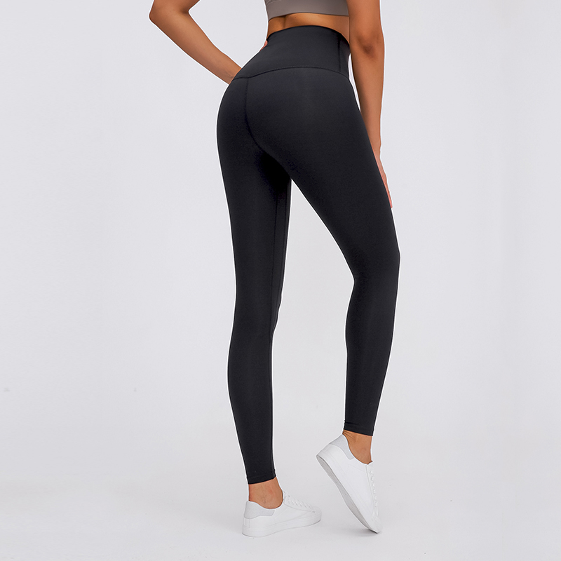 Candy colors high waisted tummy control firness double-sided sueded fabric yoga pants