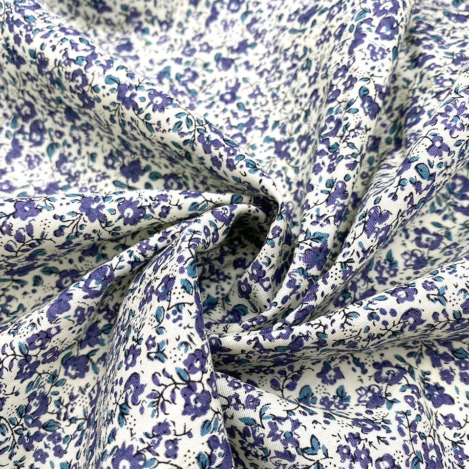 Selling stock women child 2021 trend floral flower 100%cotton daisy print fabric for dress