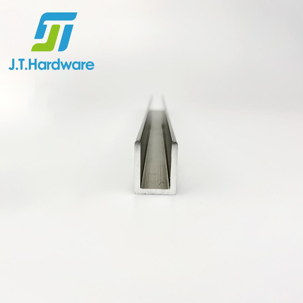 Индивидуальный душевой экран из нержавеющей стали 304, алюминиевый U-образный канал
