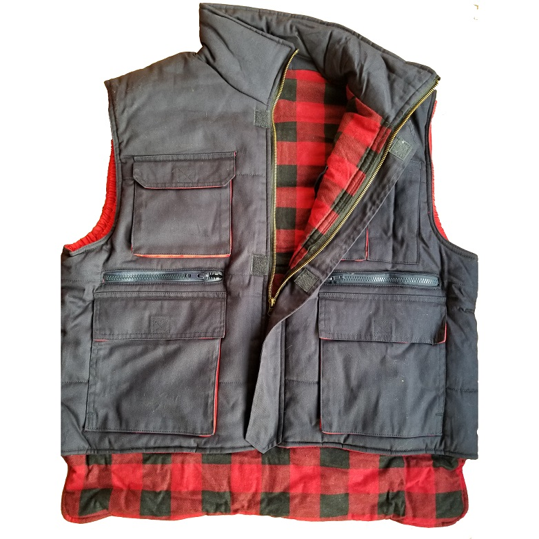 Padded quilted Flannel liner Ranger working Vest Trucker body warm waistcoat Outdoor Hunting and Fishing Kidney protection vest