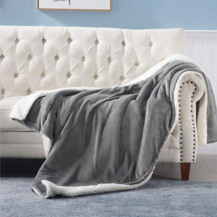 Amazon hot sale OEM factory low price premium quality sherpa blanket