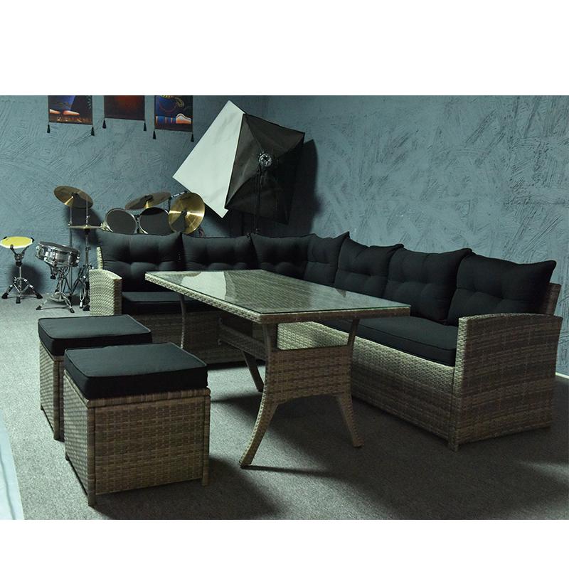 Современная Садовая мебель из ротанга нового дизайна 2020 года для отдыха на открытом воздухе, набор диванов, Товары для отдыха на заказ