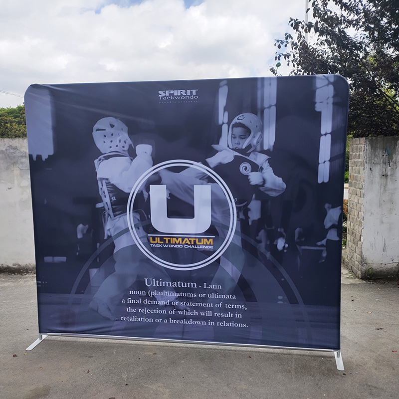 10ft portable photo outdoor exhibition booth trade show wall promotion event backdrop stand tension fabric display