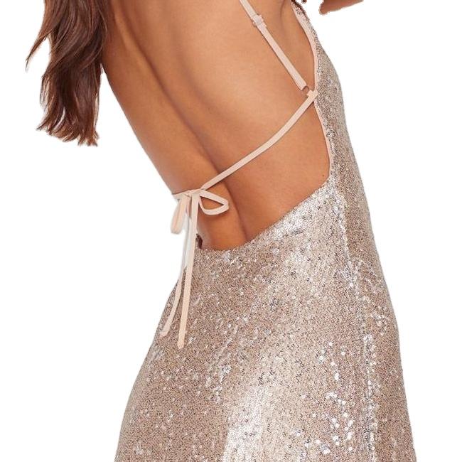 Высококачественное рождественское вечернее платье с V-образным вырезом, Бандажное Сетчатое женское вечернее платье подружки невесты с блестками