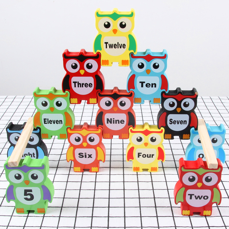 Kids Board Game Wooden Owl Balance Block Wood Toy Blocks Fun Early Learning Toys Family Party Games Children's Gifts Box Package - Buy Wooden Toy,Children Balance Toy Wooden,Wooden Balance Toy Product on