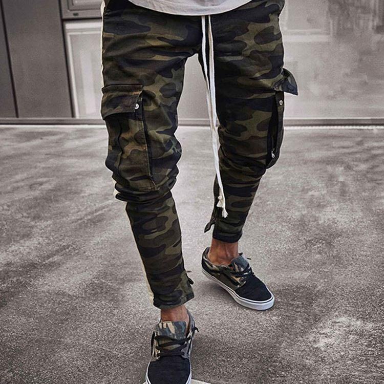 Pantalones De Camuflaje Ajustados Con Bolsillo Para Hombre A La Moda Europea Buy Americano De Los Hombres De Moda De La Calle Sexy Estilo Diario De Calle Al Aire Libre De