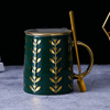 Green + Golden lid + Golden spoon