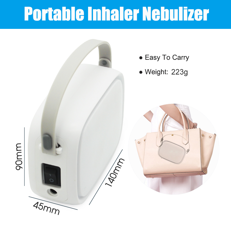 Лидер продаж Amazon, портативный бесшумный поршневой воздушный компрессор для домашнего использования, 43.5дб, микро-небулайзер/небулайзер