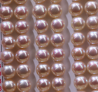 Pearls Wholesale Natural 8.0mm Freshwater Button Loose Pearls