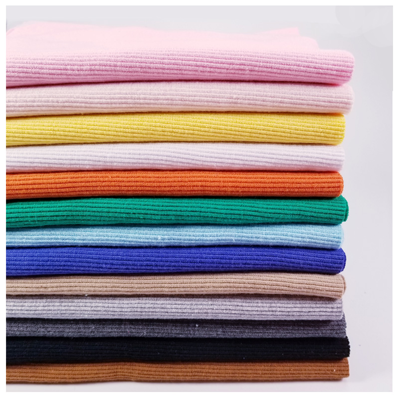 21s 2x2 cotton knitted Collar Trim for Down jacket material