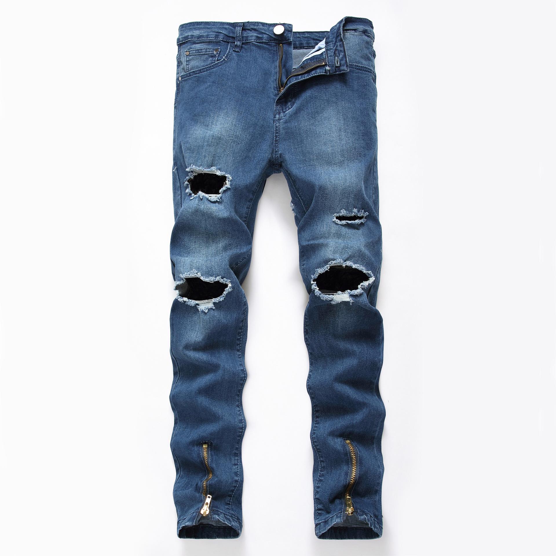 Pantalones Rasgados Para Hombre Diseno Oem Con Cremallera Elasticos Ajustados Buy Pantalones De Los Hombres Los Hombres Jeans Hombres Pantalones Vaqueros Pantalones Product On Alibaba Com