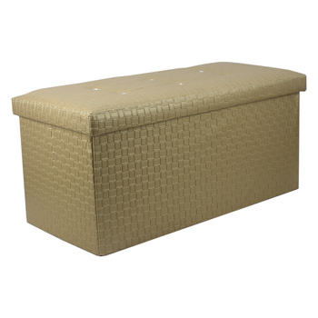 High Quality Modern Royal Shinestone Lid Folding Ottoman Storage Bench Bed