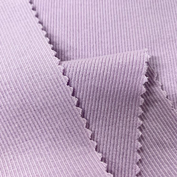 Soft felt skin-friendly modal cotton spandex 2x2 rib fabric for clothes women