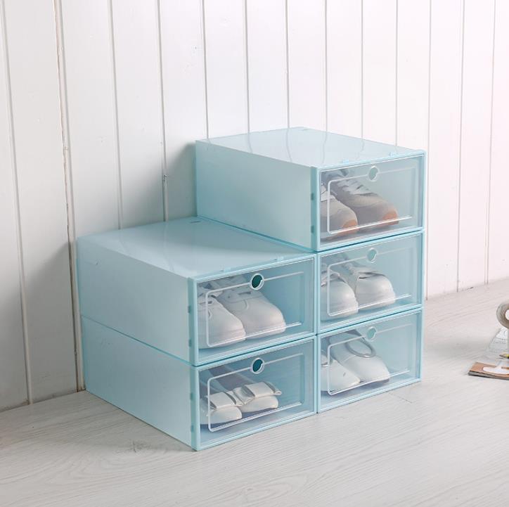 Оптовая продажа, дешевые простые Прочные прозрачные коробки для хранения обуви