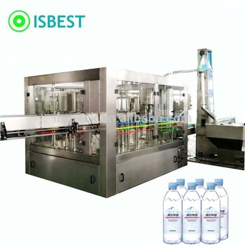 Full-automatic three-in-one mineral water plant filling machinery drinking water production plant