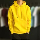 New Hoodies New Fashion Men Autumn Winter Hooded Street Long Sleeve Loose Solid Color Hooded Casual Blouse Fleece Tops White Hoodies
