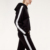 Tracksuit with side stripe custom logo 2pieces casual jogger sets for ladies