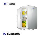 Автомобильный холодильник с низким уровнем шума E-ACE M08, мини-холодильник с автоматической морозильной камерой, охлаждающая коробка для хран...(Китай)
