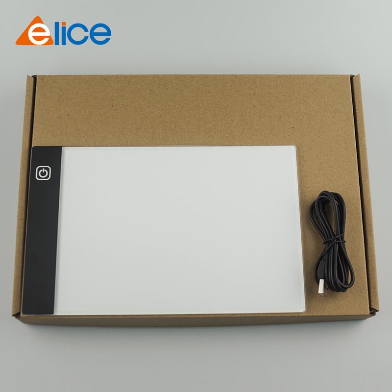 2021 hot A5 Ultra Slim LED Drawing Light Box three levels white Tracing Light Pad
