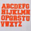 Neon orange alphabet( A-Z)