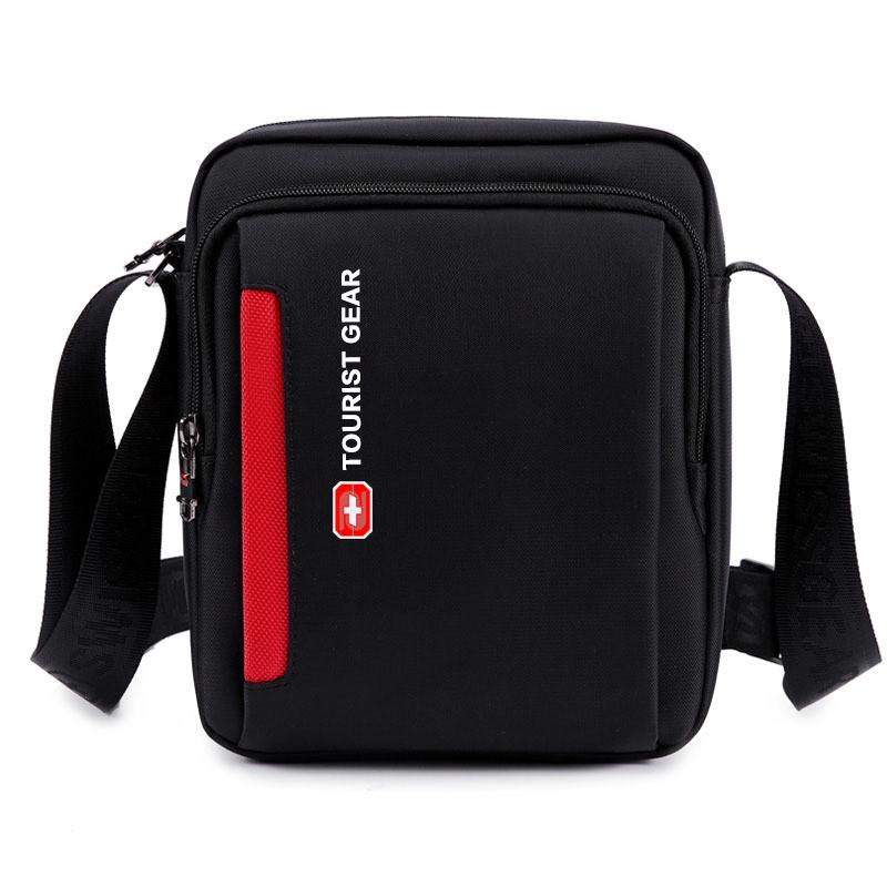 Высококачественная нейлоновая водонепроницаемая сумка-слинг через плечо, прочная сумка-мессенджер, Мужская фурнитура с USB