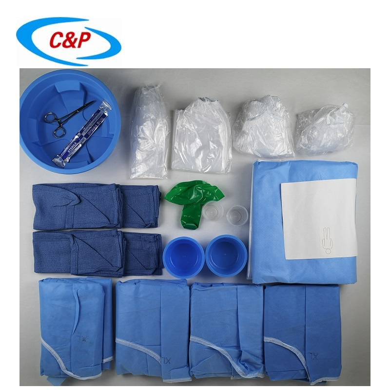 Medical Hospital Use Sterile Radial Angiography Drape Pack Kit Manufacturers