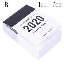 2020 милый календарь, мини-стол, полгода, календарь, офисный, школьный, рабочий график обучения, планировщик, канцелярские принадлежности(Китай)