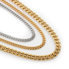 Necklace Necklaces Jewelry Iced Out Cuban Chain Wholesale Golden Necklace Womens Iced Out Cuban Link Hip Hop Chain Necklaces Jewelry Cuban Link Choker