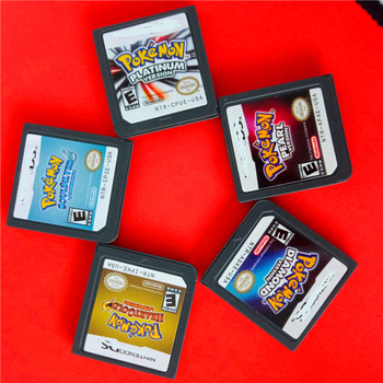 HeartGold SoulSilver Version Game Card Cartridge with Box Pokemon Games Mario Games for DS Pokemon Diamond Pearl Platinum