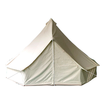 Beige Cotton Canvas Waterproof Bell Tent for Camping