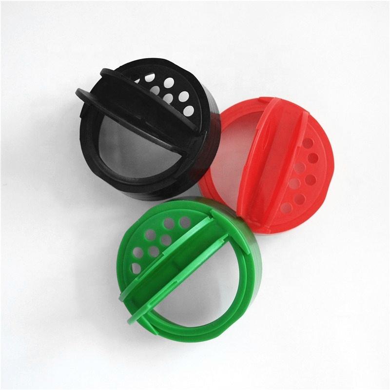 63mm plastic spice cap sifter butterfly cap spice bottle caps shaker lids flip top lid for salt pepper jar wholesale