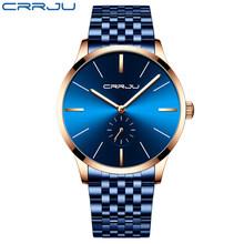Топ люксовый бренд CRRJU мужские часы классические бизнес нержавеющая сталь мужские наручные часы модные водонепроницаемые часы Relogio Masculino(Китай)