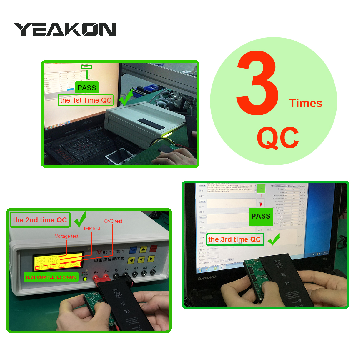 Yeakon 11 11G запасная аккумуляторная батарея для iPhone 5 5S 5C SE, 6, 6S, 6P 6SP 7 7G 7P 8 8G 8P Plus X XS MAX XR 11 12 13 Pro MAX батареи