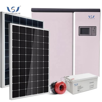 Hot-selling green energy 30kilowatt solar diesel hybrid off-grid power generation system kit fotovoltaico