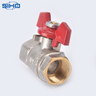 Valve Valve All Type New Product 1/2 Inch Butterfly Handle Forged Brass Ball Valve