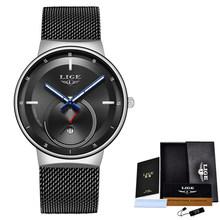 2020 LIGE новые женские часы Лидирующий бренд Роскошные женские ультратонкие часы с сетчатым ремешком водонепроницаемые кварцевые наручные ча...(Китай)