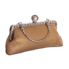 Diamond Frame Rhinestones Covered Evening Bag Wedding Clutch Handbag