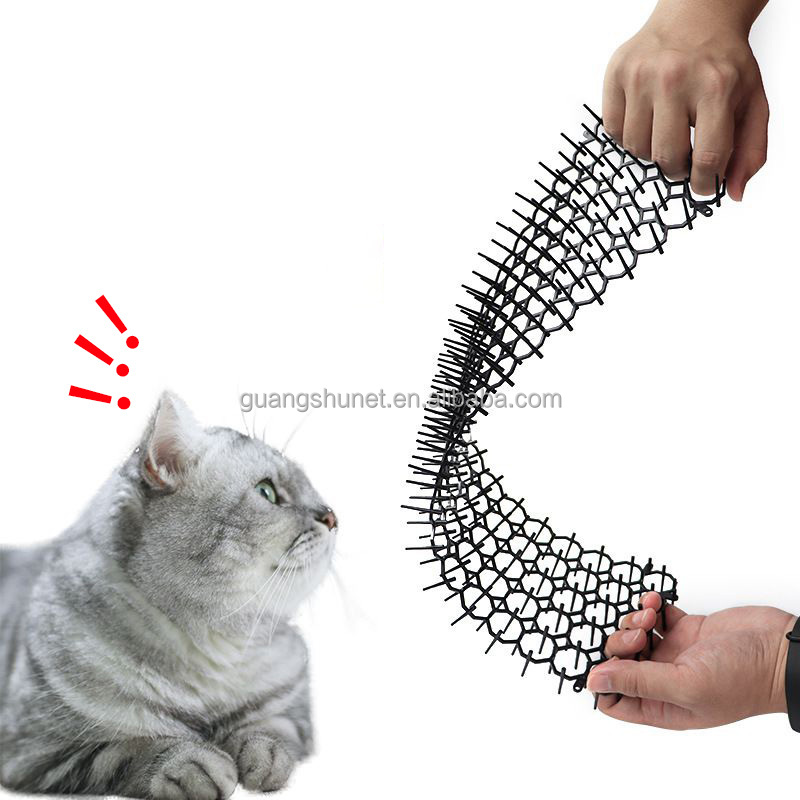 Animal Plastic Cat Repellent Mat Garden Cat Scat Spike Mat