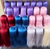 Colored long wig