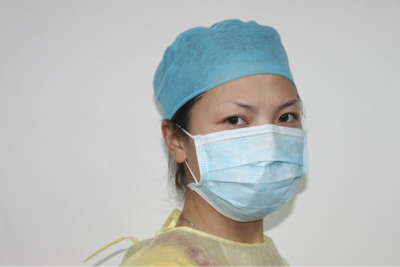 F 510K Disposable nonwoven 3-ply face mask passed ASTM LEVEL2 & LEVEL 3