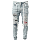Jeans Pants For Pants Jeans Men Skinny 2021 Factory Wholesale Custom New Fashion Designer Ripped Skinny Denim Slim Men'S Jeans Pants For Men